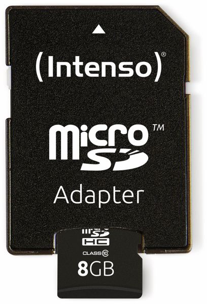 MicroSDHC Card INTENSO 3413460, 8 GB - Produktbild 4