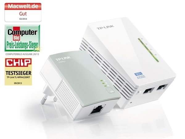 Powerline-Kit mit WLAN-Extender TP-LINK TL-WPA4220KIT