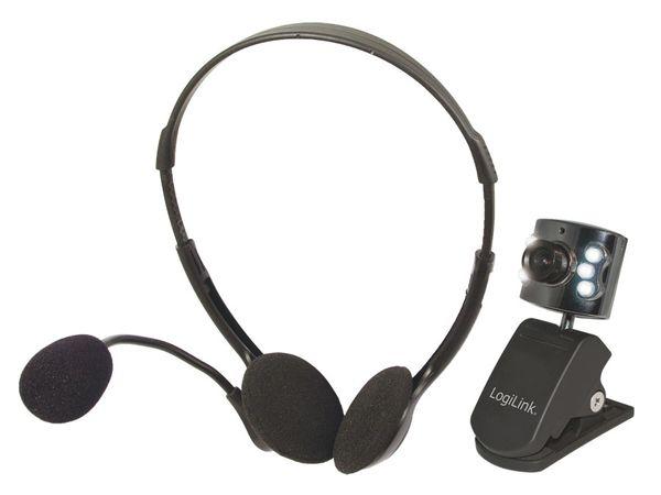 Webcam-Set mit Headset LOGILINK UA0100