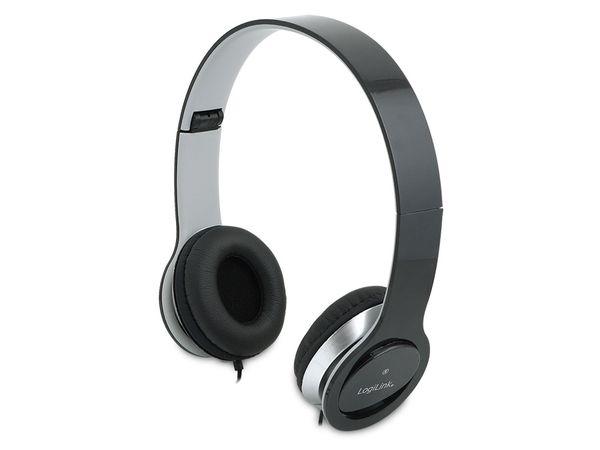 Multimedia-Headset LogiLink HS0028, schwarz