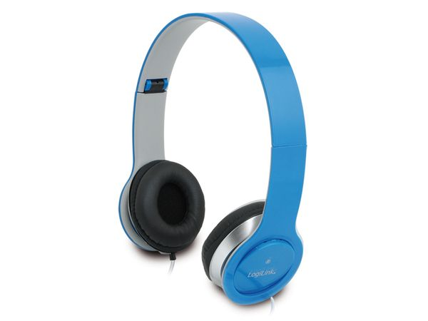 Multimedia-Headset LogiLink HS0031, blau