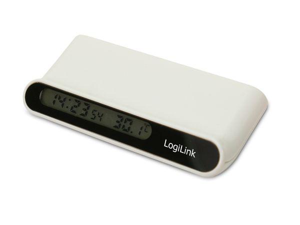 USB 2.0-Hub LOGILINK UA0070, 4-Port, Temperatur, Uhrzeit - Produktbild 1