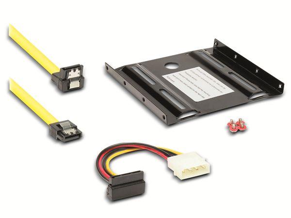 "6,35 cm (2,5"") Festplatten-Adapter, SATA, schwarz"