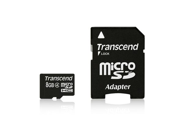 micro SDHC Card TRANSCEND, 8 GB