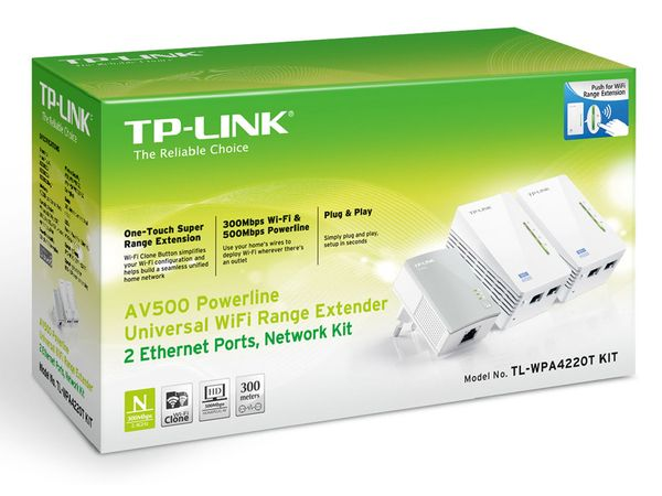 Powerline-Kit mit WLAN-Extender TP-LINK TL-WPA4220TKIT, Triple-Kit - Produktbild 2