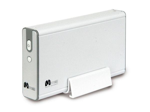 Festplatten-Gehäuse ME2-ME200 STYLE, USB2.0/eSATA zu SATA, weiß - Produktbild 1