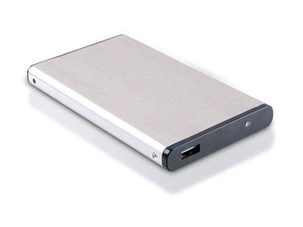 """6,35 cm (2,5"""") Festplatten-Gehäuse, USB 2.0 zu SATA, RED4POWER"""
