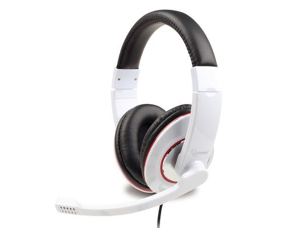 Multimedia-Headset GEMBIRD MHS-001-GW, weiß - Produktbild 1