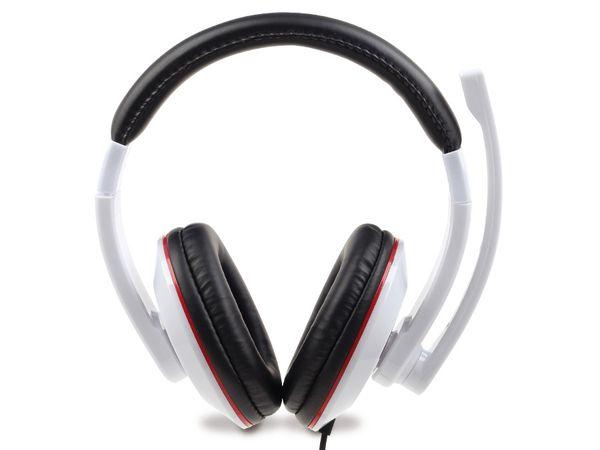 Multimedia-Headset GEMBIRD MHS-001-GW, weiß - Produktbild 2