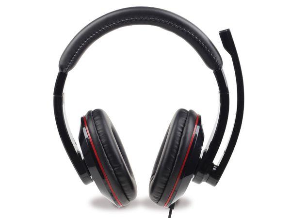 Multimedia-Headset GEMBIRD MHS-001, schwarz - Produktbild 2