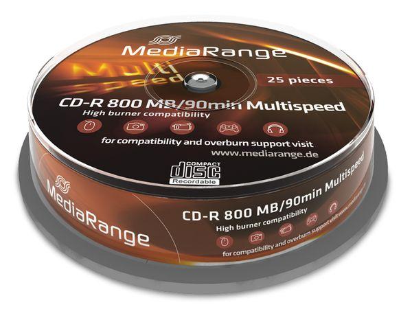 CD-R Spindel MediaRange 90 Min