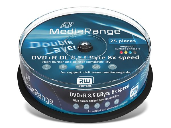 DVD+R Spindel MediaRange (DoubleLayer)
