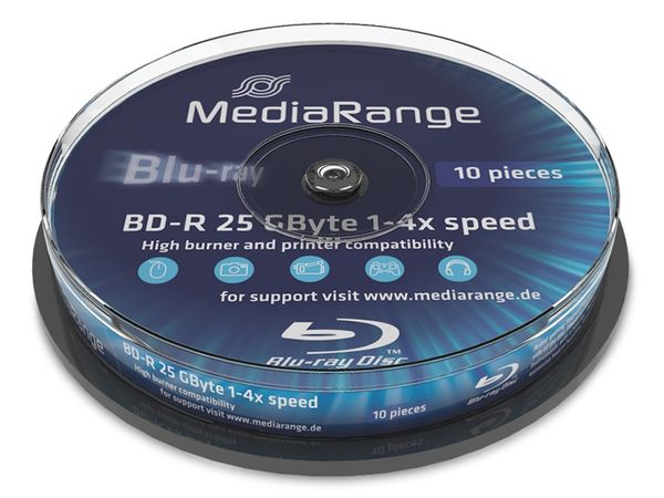 Blu-ray Disc BD-R MediaRange