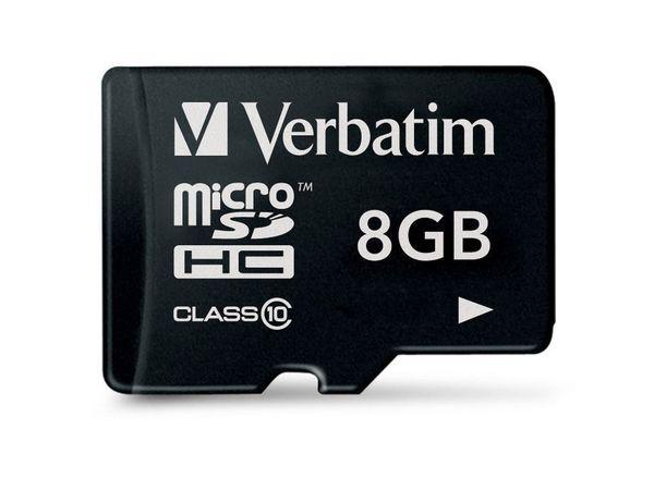 MicroSDHC Card VERBATIM 44012, 8 GB - Produktbild 1