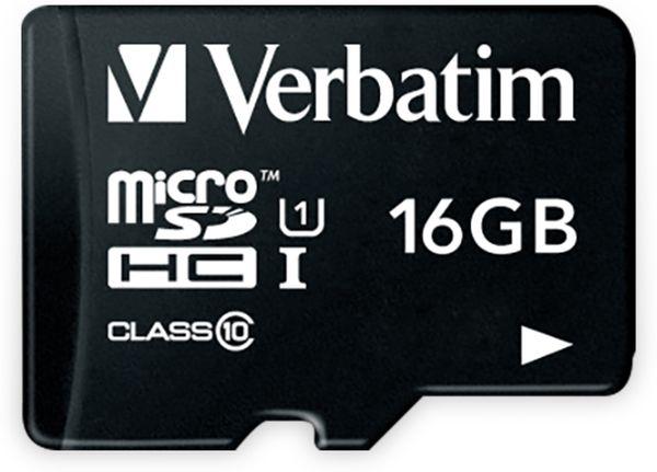 MicroSDHC Card VERBATIM 44010, 16 GB - Produktbild 1
