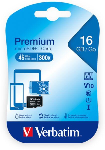 MicroSDHC Card VERBATIM 44010, 16 GB - Produktbild 2