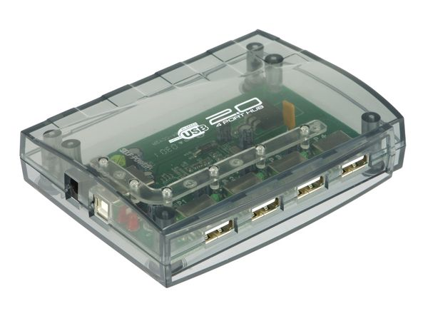 USB 2.0-Hub, 4-Port, aktiv - Produktbild 1