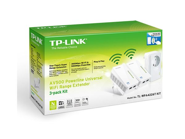 Powerline-Kit mit WLAN-Extender TP-LINK TL-WPA4226TKIT, Triple-Kit - Produktbild 2