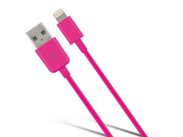 USB-Daten/Ladekabel für iPhone, iPod und iPad, pink