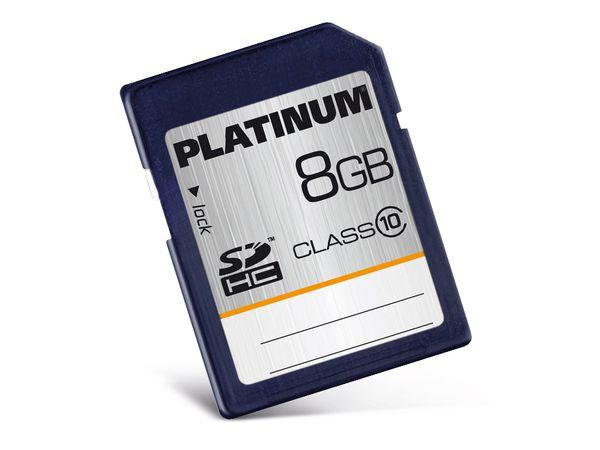 SDHC Card PLATINUM 177116, 8 GB, Class 10 - Produktbild 1