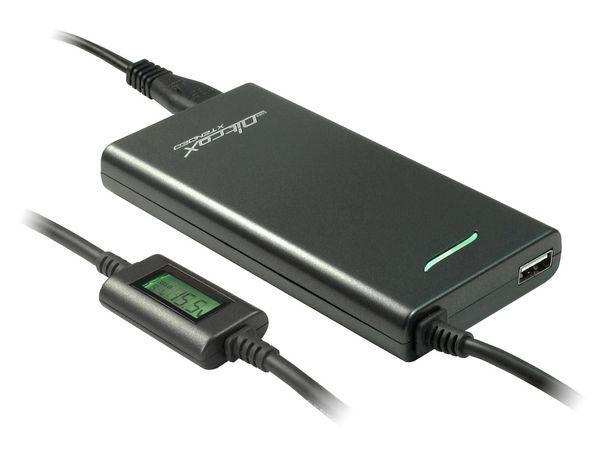Laptop-Netzteil mit Display und USB-Port, 70 W - Produktbild 1