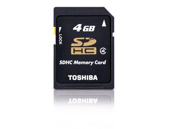 SDHC Card, 4 GB, TOSHIBA SD-K04GJ(BL5