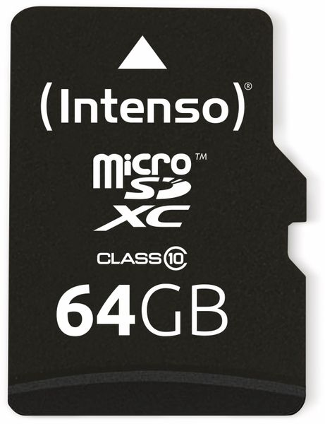 MicroSDXC Card INTENSO 3413490, 64 GB - Produktbild 1