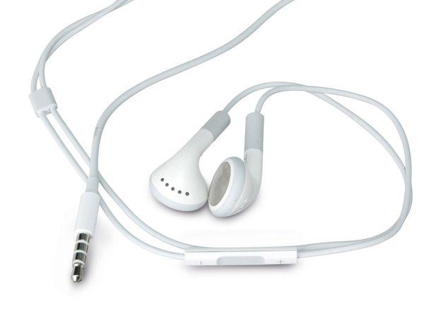 Headset mit regelbarer Lautsstärke, weiß