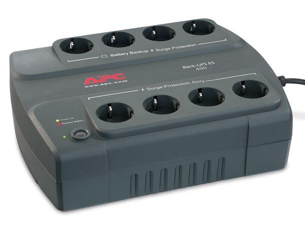 USV APC BE400-GR, 400VA, 8 Steckdosen