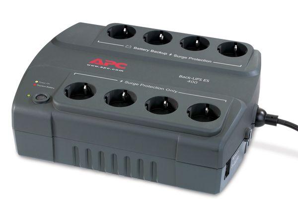 USV APC BE400-GR, 400VA, 8 Steckdosen - Produktbild 3
