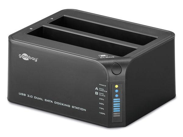 Dual-HDD-Dockingstation, USB 3.0 zu 2x SATA - Produktbild 1