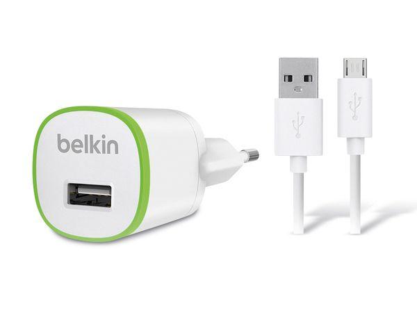 USB-Ladeset BELKIN F8M710VF04-WHT, weiß/grün