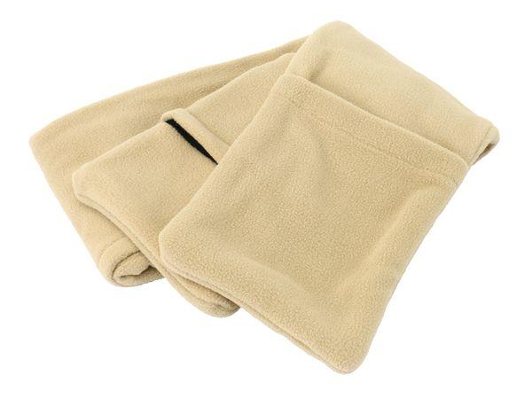 Beheizbarer Schal aus Fleece, beige - Produktbild 1