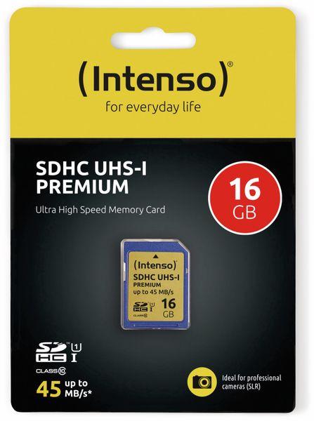 SDHC Card INTENSO 3421470, 16 GB, Class 10, UHS-I - Produktbild 2