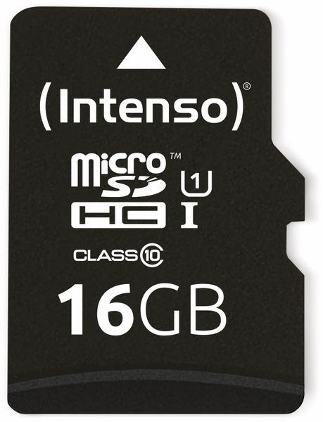 MicroSDHC Card INTENSO 3423470, UHS-I, 16 GB