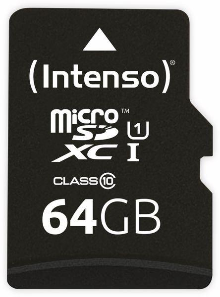 MicroSDXC Card INTENSO 3423490, UHS-I, 64 GB - Produktbild 1