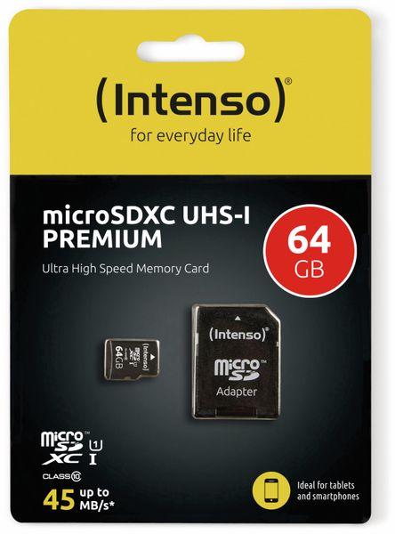 MicroSDXC Card INTENSO 3423490, UHS-I, 64 GB - Produktbild 2