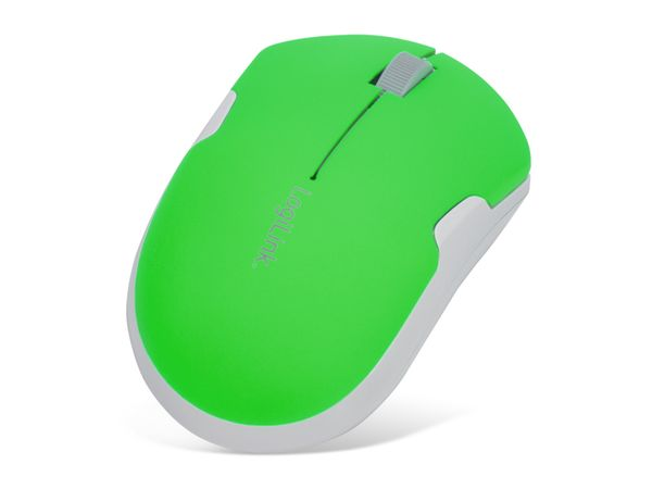 Optical-Funkmaus LOGILINK ID0123, neon-grün - Produktbild 1