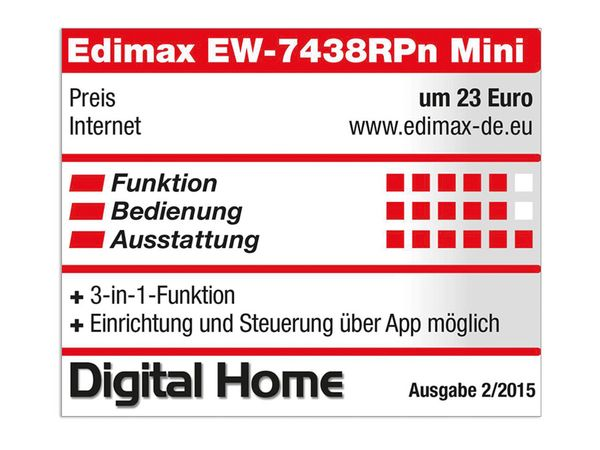 WLAN Repeater EDIMAX EW-7438RPn Mini, 300 Mbps, 3in1 - Produktbild 2