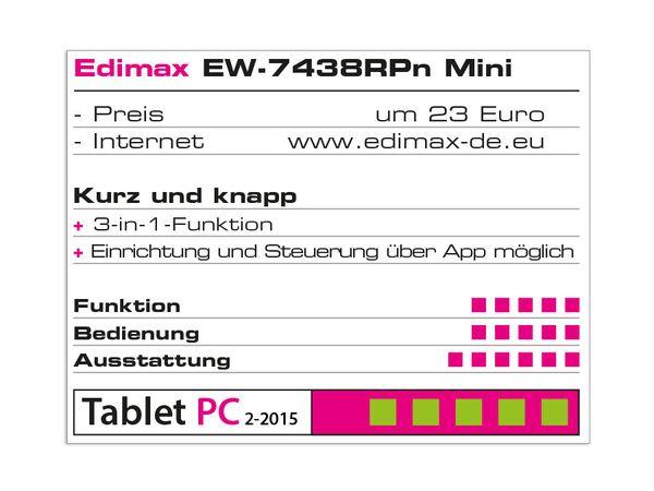 WLAN Repeater EDIMAX EW-7438RPn Mini, 300 Mbps, 3in1 - Produktbild 3