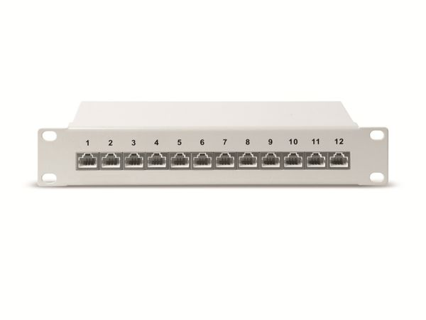 "CAT.6a Patchpanel RED4POWER R4-N106S, 12-fach, 10"", schwarz - Produktbild 3"