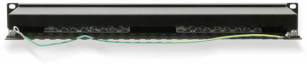 """CAT.6 Patchpanel RED4POWER R4-N117S, 16-fach, 19"""", schwarz - Produktbild 2"""