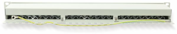 "CAT.6a Patchpanel RED4POWER R4-N119G, 24-fach, 19"", grau - Produktbild 2"