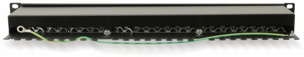 "CAT.6a Patchpanel RED4POWER R4-N119S, 24-fach, 19"", schwarz - Produktbild 2"