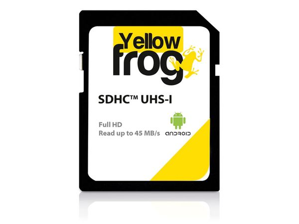 SDXC Card YELLOW FROG, 128 GB, Class 10, UHS-I, 45 MB/s