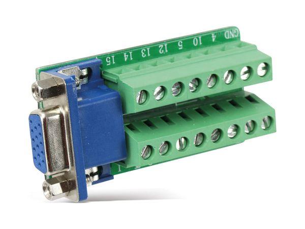 Sub-D Adapter, VGA 15-polig (3-reihig) - Produktbild 2