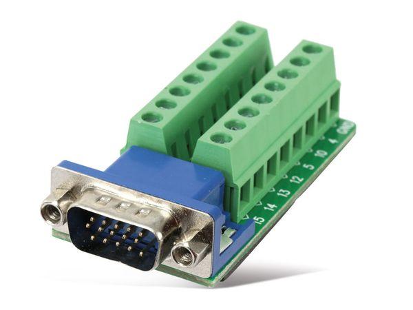 Sub-D Adapter, VGA 15-polig (3-reihig) - Produktbild 1