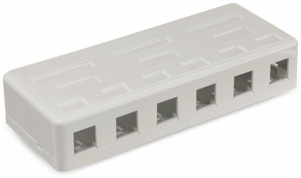 Leergehäuse Red4Power KLG-6-W, 6-port