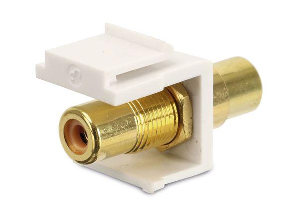 Einbau-Modul Red4Power KM-CCY-W, Cinch (gelb), weiß - Produktbild 2