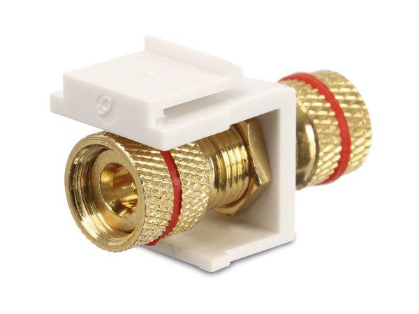 Einbau-Modul Red4Power KM-PPR-W, Polklemmen (rot), weiß - Produktbild 2